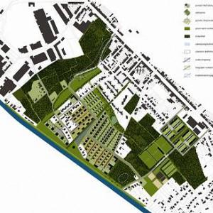 Plan Spreeuwenhoek, daterend van maart 2009, verkleind